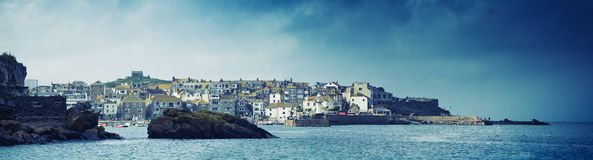 St Ives panorama. A panoramic shot of St Ives in Cornwall, UK Stock Photo