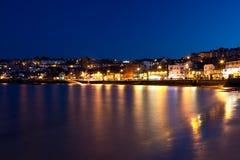 St.Ives por noche Foto de archivo libre de regalías