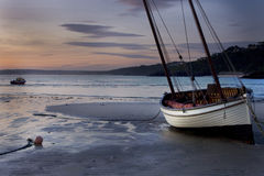 St. Ives sailboat sunrise Stock Image