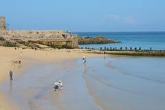St Ives strand, Cornwall, England Arkivbild