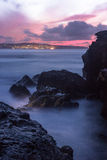 St Ives sunset. Long Exposure taken from Godreavy looking towards St Ives Royalty Free Stock Photo