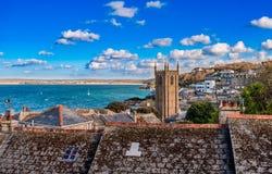 St. Ives von oben stockfotografie