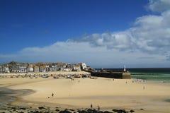 St Ives zatoki plaża obraz royalty free