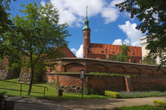 The st.Jacek Church in Slupsk, Poland. Stock Photos