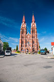 St. Jacob Catholic Church in Sveksna, Lithuania Stock Photo