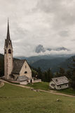 St Jacob church above Val Gardena in Dolomites Stock Photography
