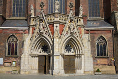 St Jacob ` s bassilica w Nysa, Polska obrazy royalty free