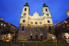 St. Jacob's Cathedral in Innsbruck Stock Photos