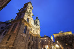 St. Jacob's Cathedral in Innsbruck Royalty Free Stock Photo