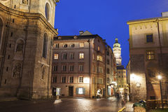 St. Jacob's Cathedral and streets in Innsbruck Royalty Free Stock Image