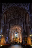 St Jacobs教会在奥尔什丁(波兰) 库存图片