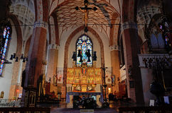 St. Jacobs Church in Olsztyn (Poland) Stock Images