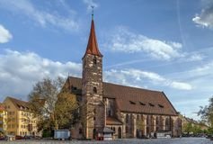 St. Jakob, Nuremberg, Germany. St. Jakob is a medieval church in Nuremberg, Germany Stock Photos