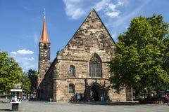 St Jakobskirche (a igreja de St James) em Nuremberg, Alemanha, 2015 Imagem de Stock Royalty Free