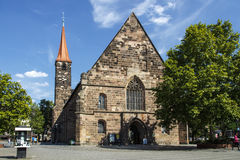 St Jakobskirche (la iglesia de San Jaime) en Nuremberg, Alemania, 2015 Imagen de archivo libre de regalías