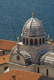 St.James Cathedral Dome And Red Roofs Royalty Free Stock Photography
