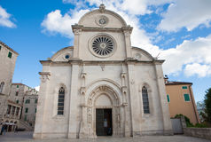 St. James Cathedral in Sibenik city, Croatia. Royalty Free Stock Photography