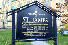 St. James Cathedral Sign Stock Photography