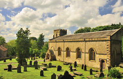 St James church, Clapham village, Yorkshire Stock Image