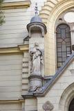 St. James Church facade in Ljubljana Royalty Free Stock Photos