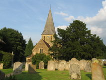 St James Church and Graveyard, Shere, UK Royalty Free Stock Photos