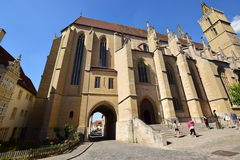St James church (Jacobskirche) in Rothenburg, Germany Stock Photo