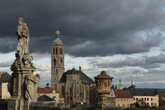 St James Church in Kutna Hora, Czech Republic. Royalty Free Stock Image
