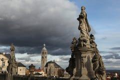 St James Church in Kutna Hora, Tsjechische Republiek Royalty-vrije Stock Foto's