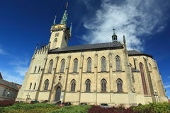 St. James church in Policka Stock Images