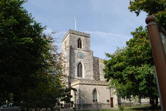 St James Church Poole. Tower of St James Church Poole Dorset Royalty Free Stock Image