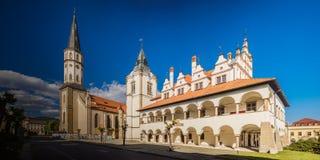 St. James Church, Slovakia. St. James Church and Levoca old town hall, Presov Region, Slovakia Royalty Free Stock Photos