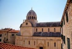 St. James kathedraal. Shibenik (Sibenik) royalty-vrije stock afbeeldingen