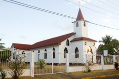 St. James kościół episkopalnego Kukurydzanej wyspy Nikaragua Duża centrala Ame Zdjęcie Royalty Free