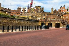 St. James Palace in Pall Mall, London, England, UK. LONDON, UK - JUNE 4, 2015: St.  James Palace in Pall Mall Stock Image