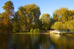 St James park in autumn, London, UK Royalty Free Stock Photo