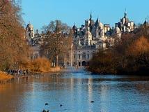 St james park ,lake and horse guard. London stock photo