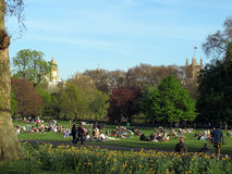 St. James Park, London skyline Royalty Free Stock Photo