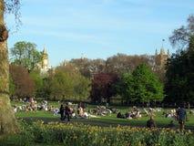 St. James Park, London skyline Royalty Free Stock Photo