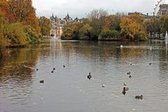 St. James Park, London, UK. St. James Park with Horse Guards Buildings, London, UK Stock Photos