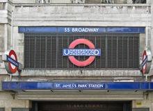 St James Park Underground Station London Stock Image