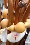 St. James pelgrimstoebehoren in Spanje Royalty-vrije Stock Foto's