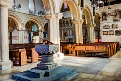 St James Priory Font HDR Stock Image