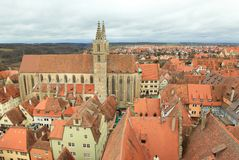 St. James's Church, Rothenburg ob der Tauber Stock Image