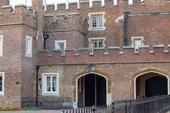 St. James`s palace, royal residence and home for Charles, Prince of Wales.. London, UK Stock Photo