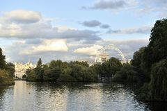 St James's Park Lake at sunset Royalty Free Stock Images