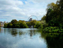 St. James's Park/London Eye Royalty Free Stock Photo