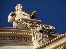 St James statue. On Cathedral in Sibenik Stock Image