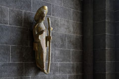 St-James statue in the Cathedral of Puy-en-Velay Royalty Free Stock Image