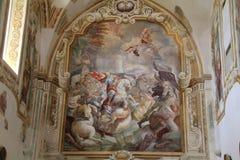 St James syns i striden av Clavijo Arkivbilder
