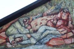 St James und zwei Freunde schlafen auf dem Ölberg lizenzfreie stockfotos